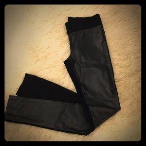 Club Monaco leather leggings
